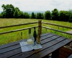 Eat al fresco on the decking outside your accommodation and enjoy the view