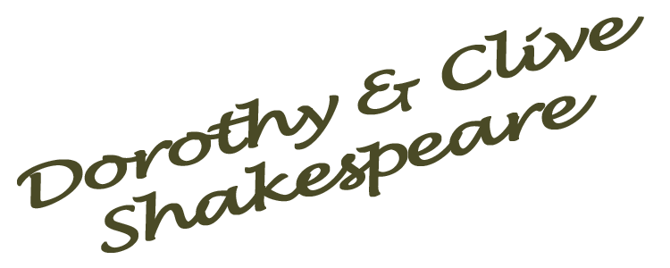 Signature- Dorothy & Clive Shakespeare