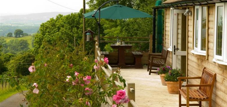 The Beautiful Countryside Setting of Acorn Lodge in Shropshire